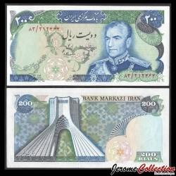 IRAN - Billet de 200 Rials - Shah Mohammad Reza Pahlavi / Tour Azadi - 1974 P103b