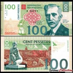 CATALUNYA / CATALOGNE - Billet de 100 Pessetes - 2017