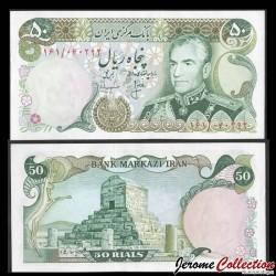 IRAN - Billet de 50 Rials - Mausolée de Cyrus - 1974 P101c