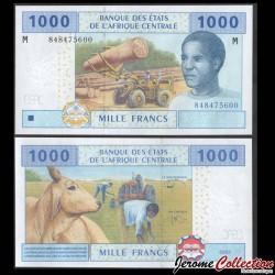 CENTRAFRIQUE - Billet de 1000 Francs - Exploitation forestière - 2017 P307m4