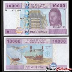 CENTRAFRIQUE - Billet de 10000 Francs - Train, avions, satellite - 2017 P310m4