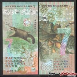 FAUNUS ISLAND - Billet de 7 DOLLARS - Écureuil volant - 2020 0007