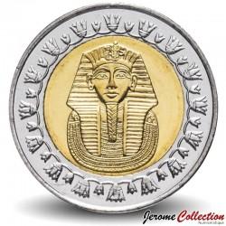 EGYPTE - PIECE de 1 Pound - Masque funéraire de Toutânkhamon - Bimétal - 2010 Km#940a