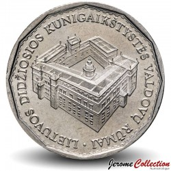 LITUANIE - PIECE de 1 Litas - Reconstruction du Palais Royal - 2005 Km#142