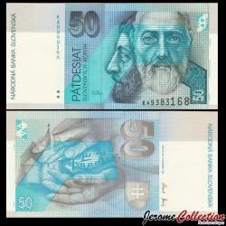 SLOVAQUIE - Billet de 50 Couronnes - Saint Cyrille et Méthode - 2005 P21e