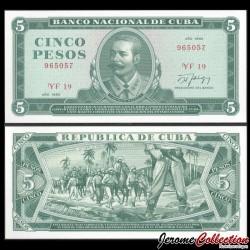 CUBA - Billet de 5 Pesos - Invasion de Cuba - 1990 P103d2