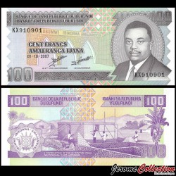BURUNDI - Billet de 100 Francs - 01.10.2007 P37f
