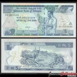 ETHIOPIE - Billet de 5 Birr - 2006 P47d