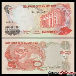 SUD VIETNAM - Billet de 500 Dong - Immeuble de la Banque nationale - 1970 P28a