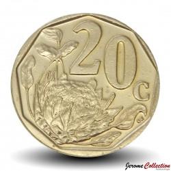 AFRIQUE DU SUD - PIECE de 20 Cents - Fleur Protéa royale - 2012 Km#466