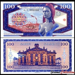 SARRE - Billet de 100 Francs - Marianne - 2017