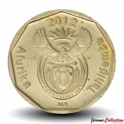 AFRIQUE DU SUD - PIECE de 20 Cents - Fleur Protéa royale - 2012