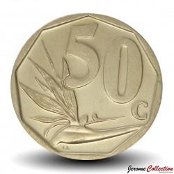 AFRIQUE DU SUD - PIECE de 50 Cents - Fleur d'oiseau de paradis - 2011 Km#503