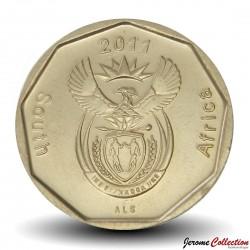 AFRIQUE DU SUD - PIECE de 50 Cents - Fleur d'oiseau de paradis - 2011