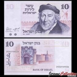 ISRAEL - Billet de 10 Lirot - Moïse Montefiore - 1973 P39a
