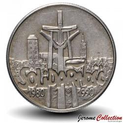 POLOGNE - PIECE de 10000 Zlotych - Solidarnosc - 1990 Y#195