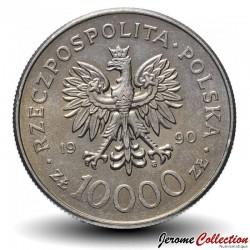 POLOGNE - PIECE de 10000 Zlotych - Solidarnosc - 1990