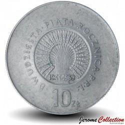 POLOGNE - PIECE de 10 zlotych - République du peuple - 1969 Y#61