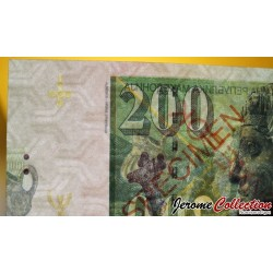 MACEDOINE - Billet de 200 Dinara - Dionysos - SPECIMEN - 2016