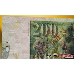 MACEDOINE DU NORD - Billet de 200 Dinara - Dionysos - SPECIMEN - 2016
