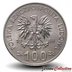 POLOGNE - PIECE de 100 Zlotych - Insurrection de Grande-Pologne - 1988