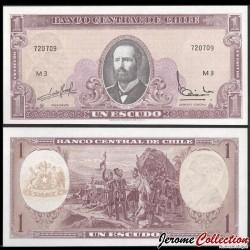 CHILI - BILLET de 1 Escudo - Fondation de Santiago du Chili - 1962 P135ab