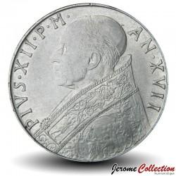 VATICAN - PIECE de 100 Lires - Fides (La foi) - 1955