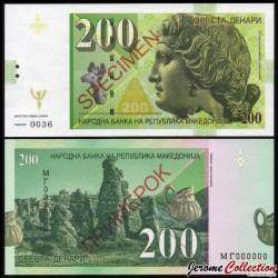 MACEDOINE DU NORD - Billet de 200 Dinara - Dionysos - SPECIMEN - 2016 0200 - Dionysos - Gabris