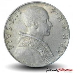 VATICAN - PIECE de 5 Lires - La justice - 1953