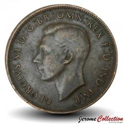 AUSTRALIE - PIECE de 1/2 Penny - Kangourou - 1943