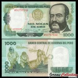 PEROU - Billet de 1000 Soles de Oro - Miguel Grau - 03.05.1979 P118b