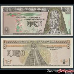GUATEMALA - Billet de 50 Centavos de Quetzal - 1989 P72a