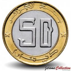 ALGÉRIE - PIECE de 50 Dinars - Gazelle Dama - Bimétal - 2016