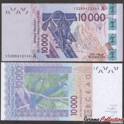 BCEAO - COTE D'IVOIRE - Billet de 10000 Francs - 2003 / 2015