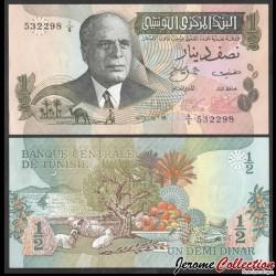TUNISIE - Billet de ½ Dinar- Président Habib Bourguiba - 15.10.1973 P69a