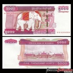 MYANMAR (ex-Birmanie) - Billet de 5000 Kyats - Elephant - 2014 P83a