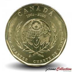 CANADA - PIECE de 1 Dollar - Chartre de l'ONU - 2020 Km#new