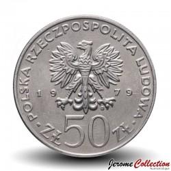 POLOGNE - PIECE de 50 Zlotych - Les rois de Pologne: Mieszko 1er - 1979