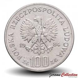 POLOGNE - PIECE de 100 Zlotych - 40 ans de la République populaire de Pologne - 1984