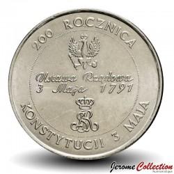 POLOGNE - PIECE de 10000 Zlotych - 200 ans de la constitution polonaise - 1991 Y#217