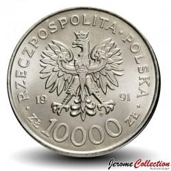 POLOGNE - PIECE de 10000 Zlotych - 200 ans de la constitution polonaise - 1991