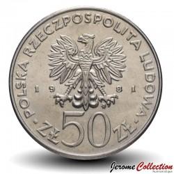 POLOGNE - PIECE de 50 Zlotych - Journée mondiale de l'alimentation - 1981