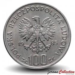 POLOGNE - PIECE de 100 Zlotych - Prince Przemysł II - 1985