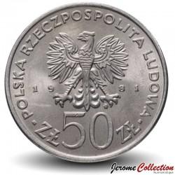 POLOGNE - PIECE de 50 Zlotych - Les rois de Pologne: Boleslas II - 1981