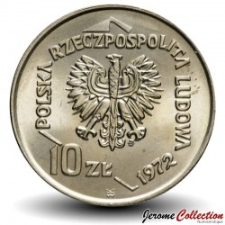 POLOGNE - PIECE de 10 zlotych - Port de Gdansk - 1972
