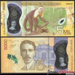 COSTA RICA - Billet de 5000 Colones - Singe - Polymer - 2020 P282a