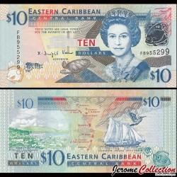 CARAIBES ORIENTALES - Billet de 10 DOLLARS - 2008