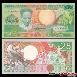 SURINAME - Billet de 25 Gulden - Toucan - 1988 P132b
