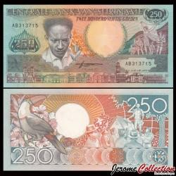 SURINAME - Billet de 250 Gulden - Toucan - 1988 P134a