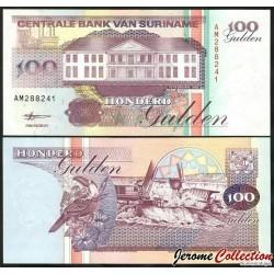 SURINAME - Billet de 100 Gulden - 10.2.1998 P139b